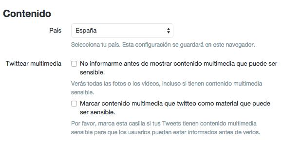 Twitter red social. Configuración