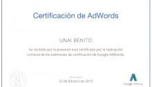 Certificación oficial de Adwords